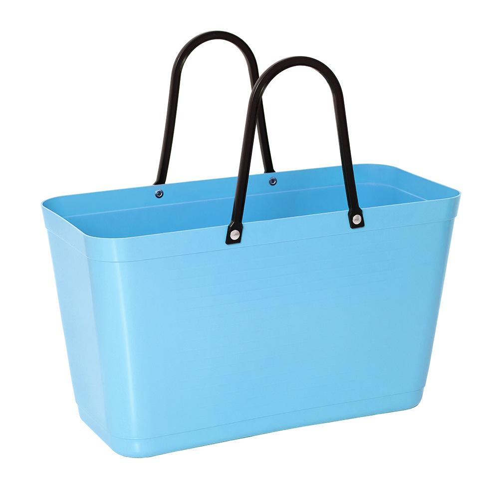 Hinza Bag Large Green Plastic, Light Blue