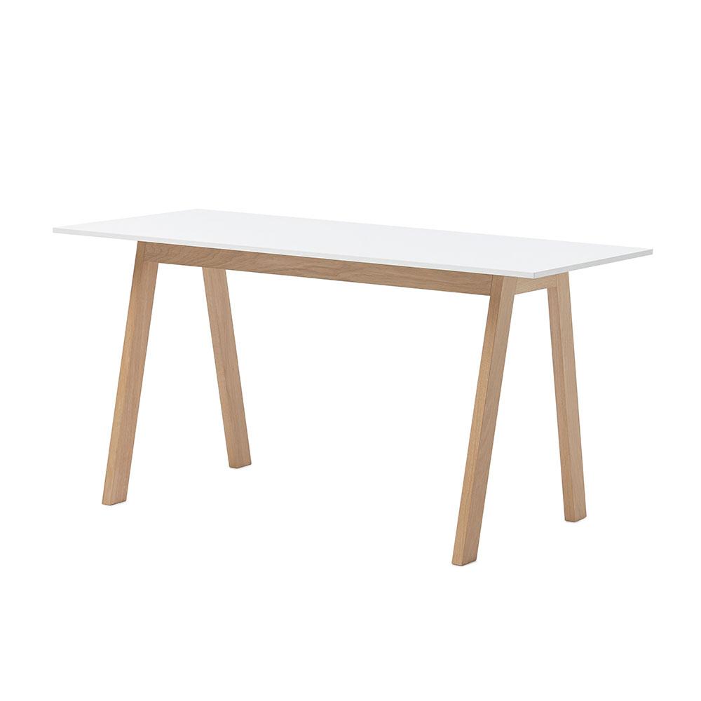 Angle Desk, White/ White Oiled Oak