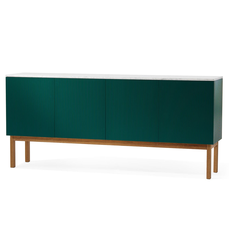 Beam Cabinet, Green/Oiled Oak/Marble