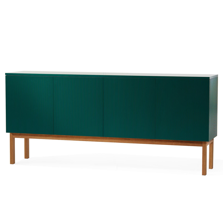 Beam Cabinet, Green/Oiled Oak