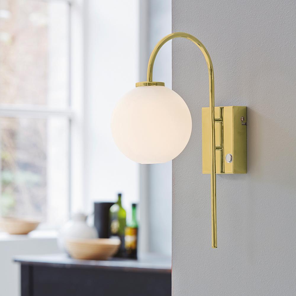 Ballon Wall Lamp, Brass White Herstal Herstal RoyalDesign com