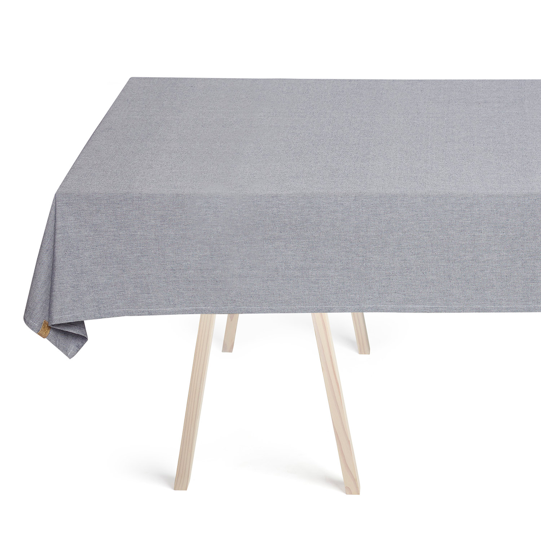 solid tablecloth 140x240cm navy georg jensen damask georg jensen damask. Black Bedroom Furniture Sets. Home Design Ideas