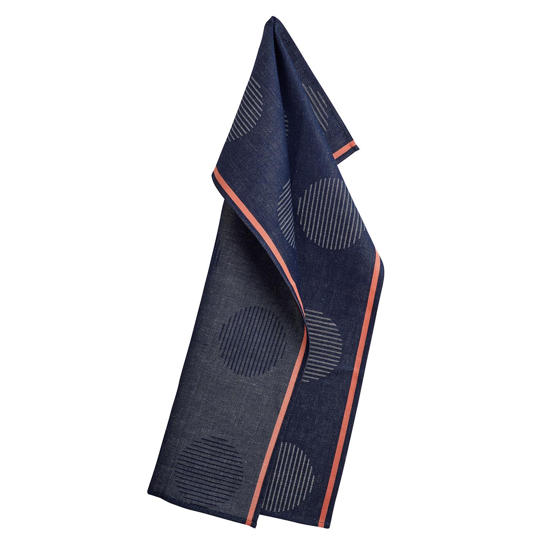 points tea towel 50x80cm thunder georg jensen damask georg jensen damask. Black Bedroom Furniture Sets. Home Design Ideas