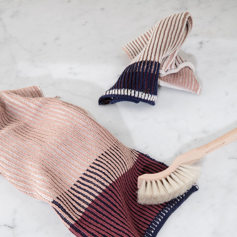 Akin Knitted Tea Towel 34x70cm, Rose - Ferm Living - Ferm Living ...