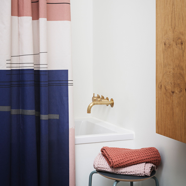 colour block shower curtain ferm living ferm living. Black Bedroom Furniture Sets. Home Design Ideas