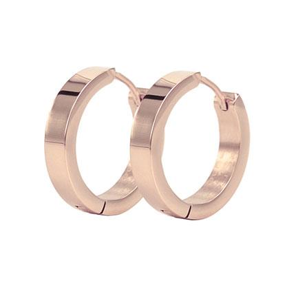 BEA Earrings Ø10mm, Rosegold-plated