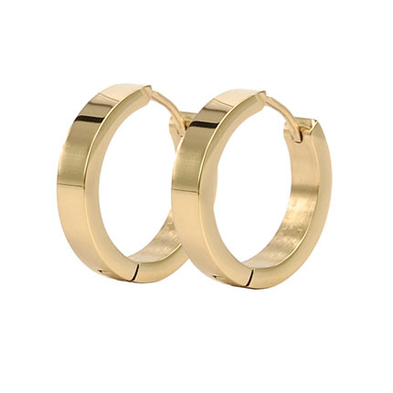 BEA Earrings Ø10mm, Gold-plated