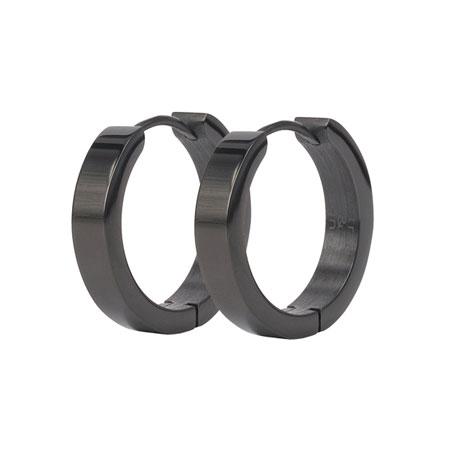 BEA Earrings Ø10mm, Black