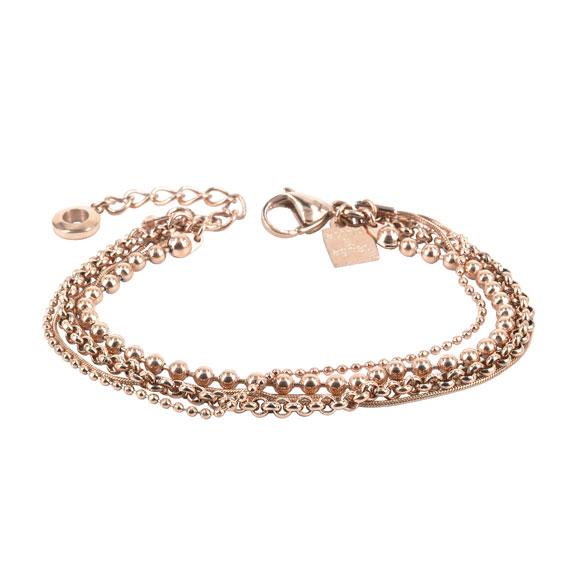 ADELE Bracelet 18cm, Rosegold-plated