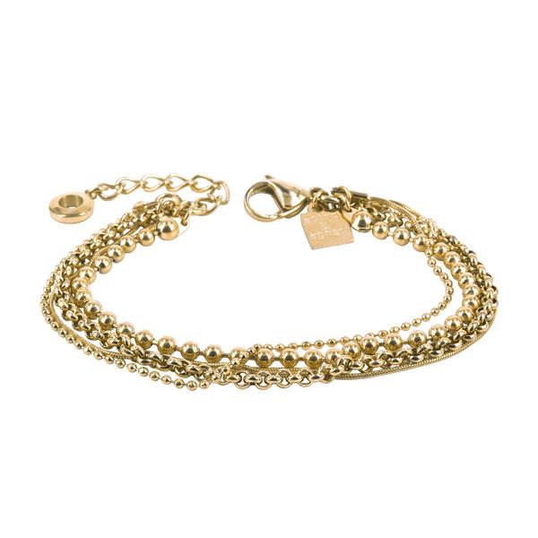 ADELE Bracelet 18cm, Gold-plated