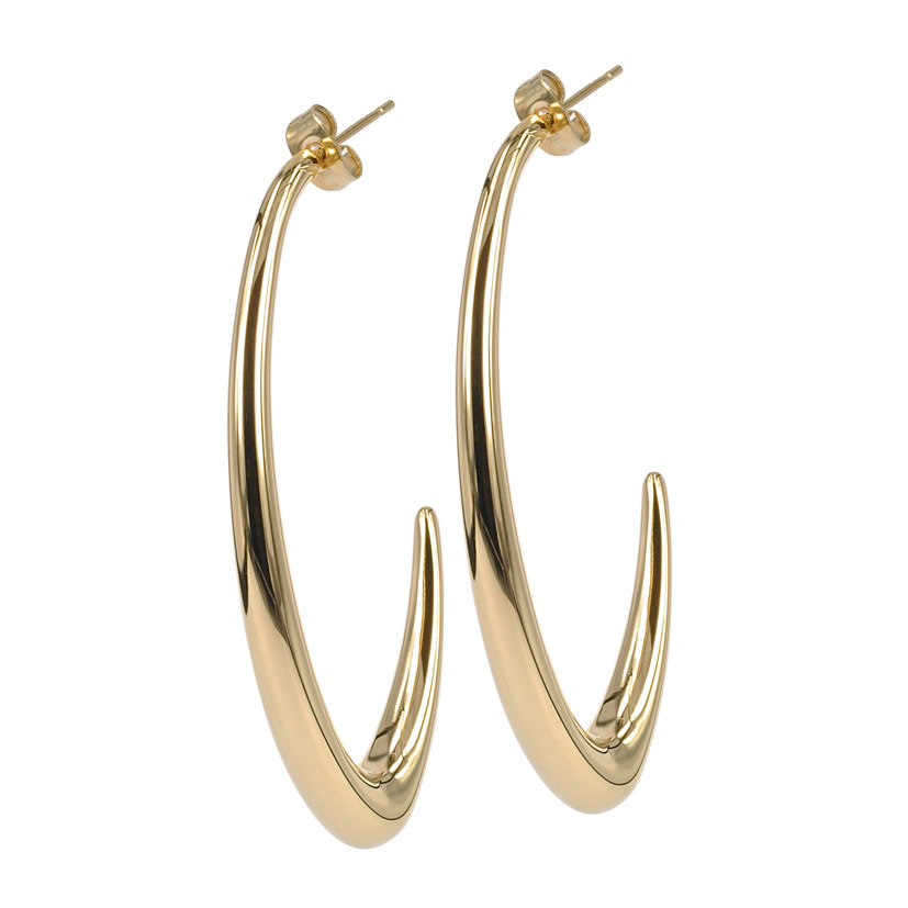 Athena Earrings, Gold