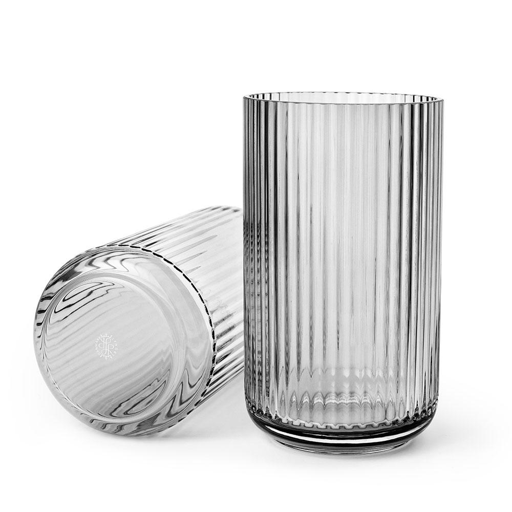 the lyngby vase glass 25cm grey smoke lyngby porcel n lyngby porcel n. Black Bedroom Furniture Sets. Home Design Ideas