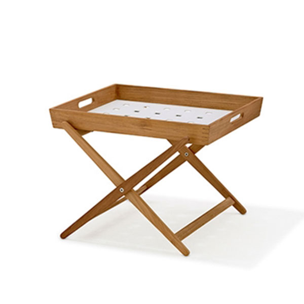 Amaze Tray Table 55x43x58cm, Teak/ White