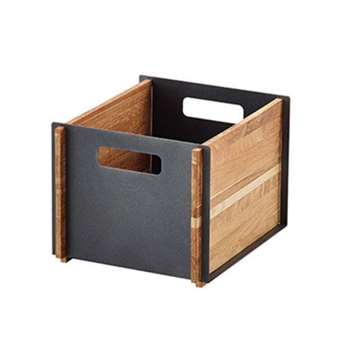 Box Storage Box 35,5x25,5x30cm, Teak/ Grey