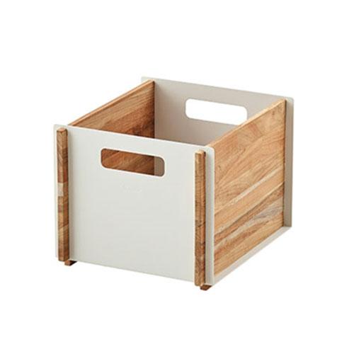 Box Storage Box 35,5x25,5x30cm, Teak/ White