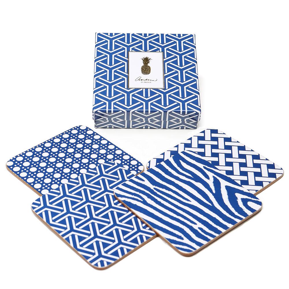 Coasters 4 Pcs, Blue