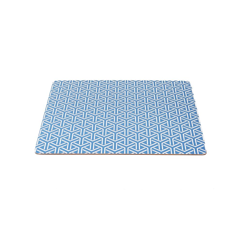 Placemat Y-Pattern 4 Pcs, Blue