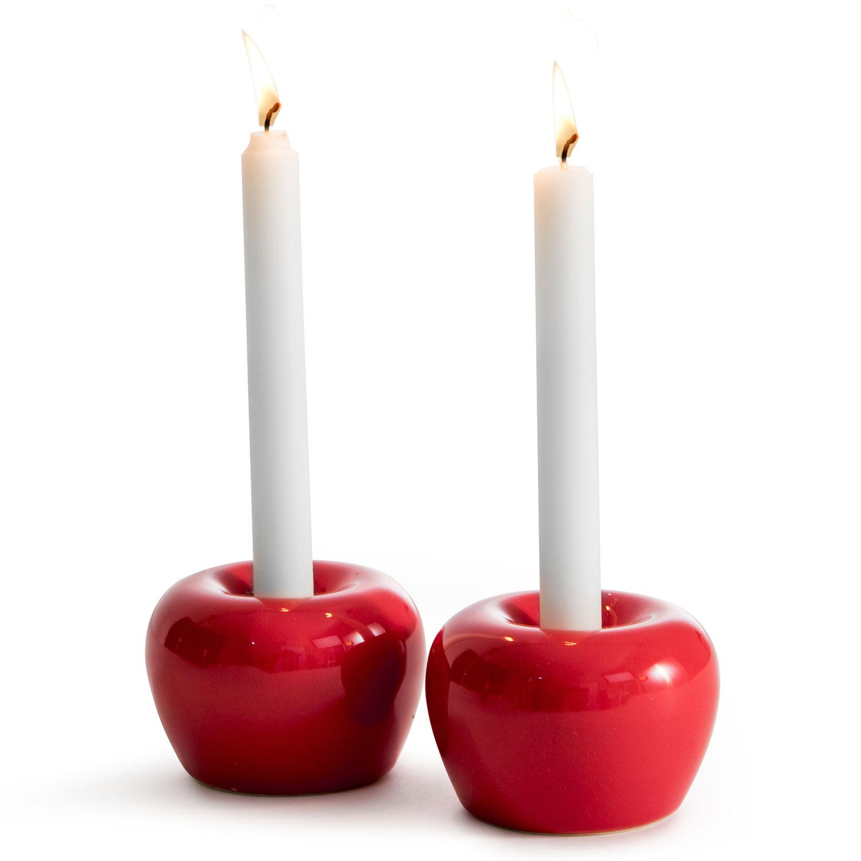 Apple Tea light bowl S 2 pcs, Red