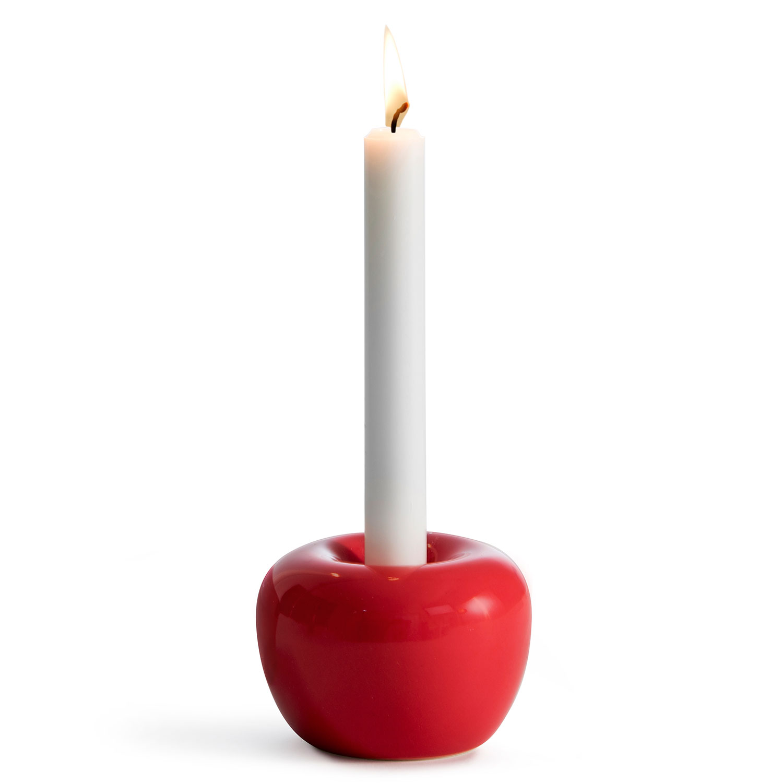 Apple Tea light bowl M, Red