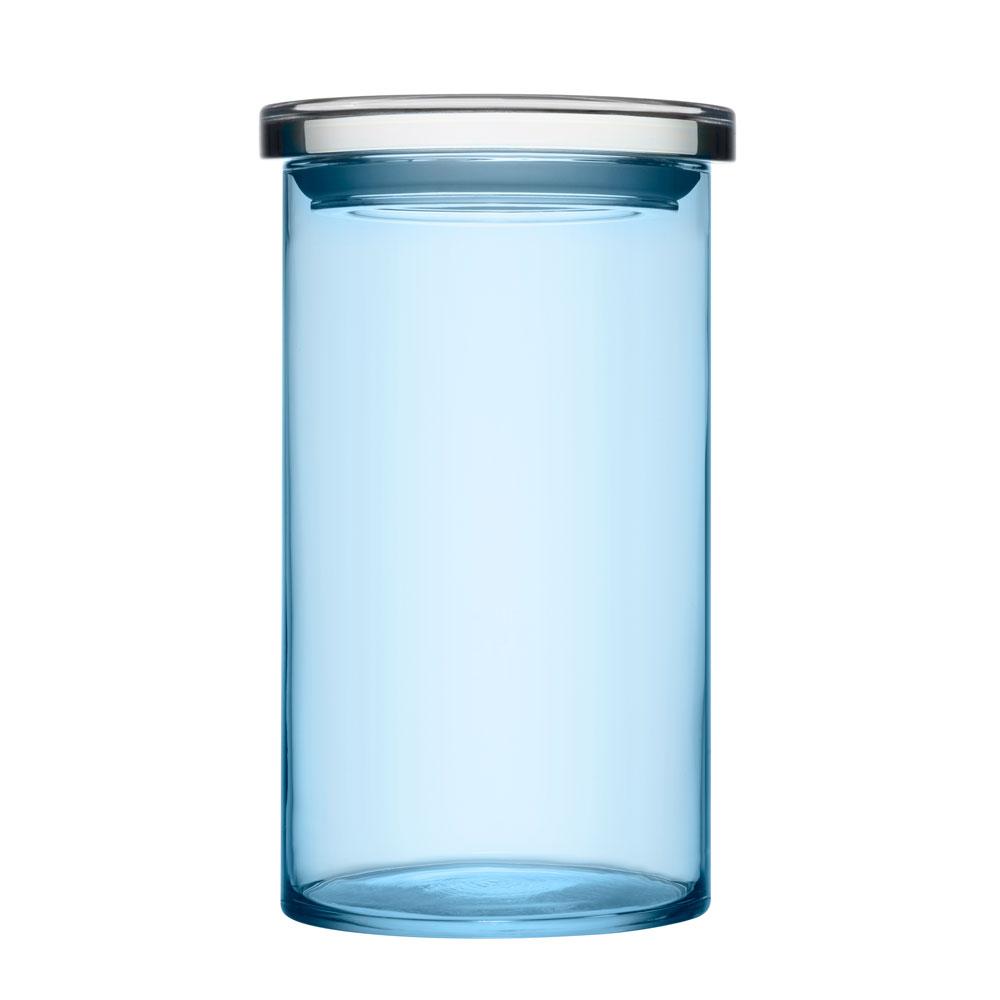 Jars glass jar with lid light blue pentagon design for Designer glass jars