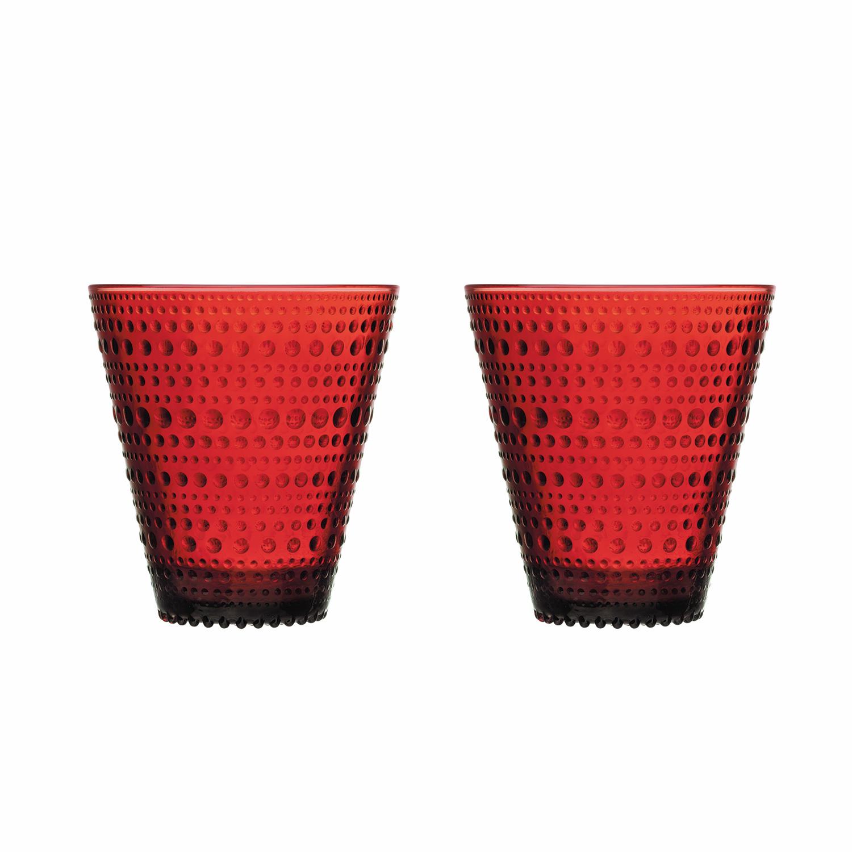 Kastehelmi Drinking Glass 30cl 2-Pcs, Cranberries