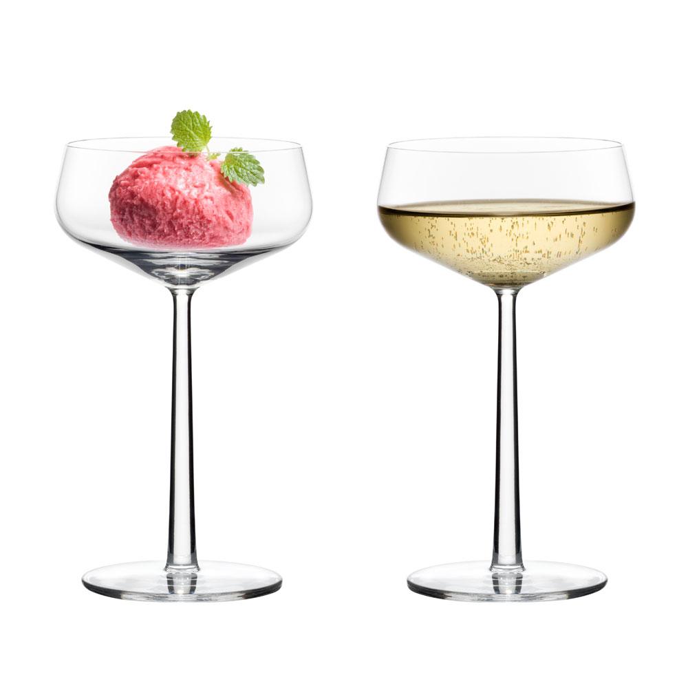 essence dessert bowl champagne glass 31cl set of 2 alfredo h berli iittala. Black Bedroom Furniture Sets. Home Design Ideas