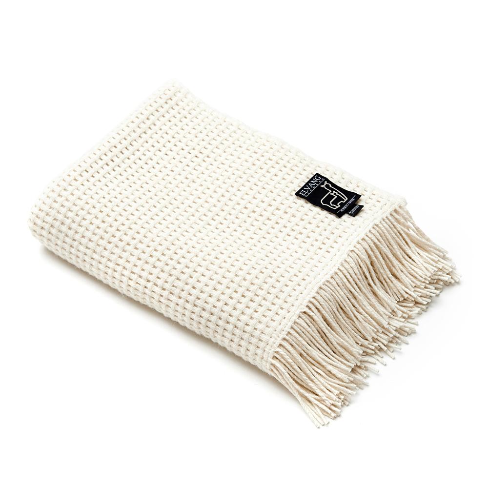 Basket Throw, Off White