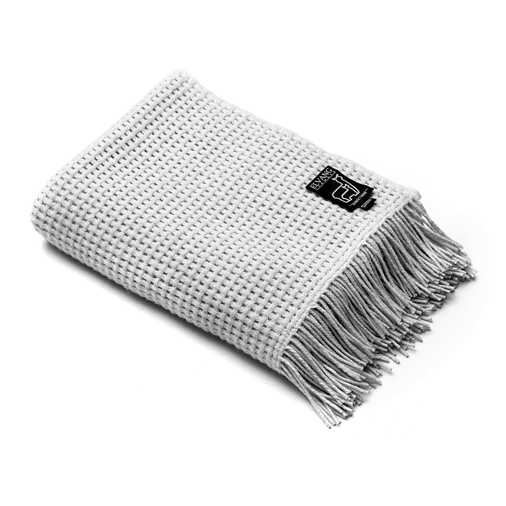 Basket Throw, Light Grey