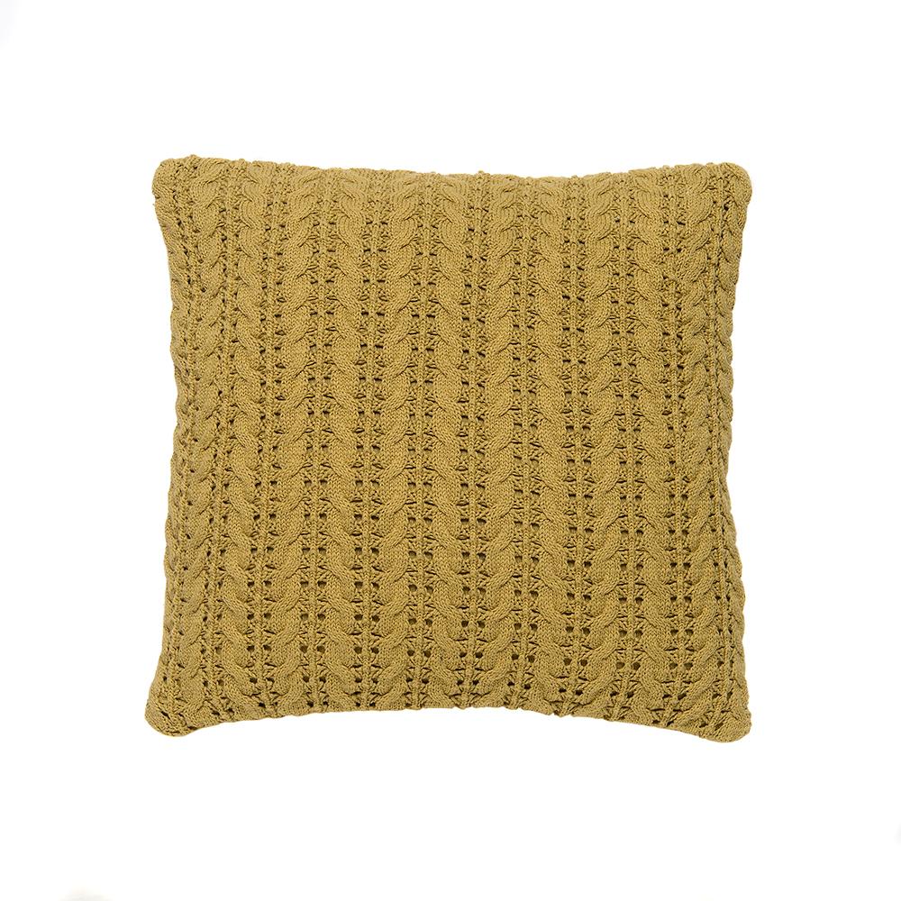 Lace Pillow 50x50cm, Golden Green
