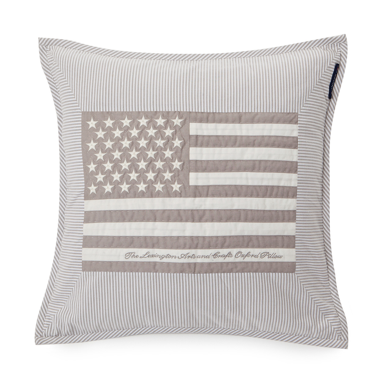 Flag Arts & Crafts Cushion Cover, Grey/white