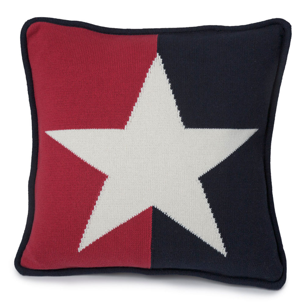 Star No. 1 Cushion Cover, Red/blue