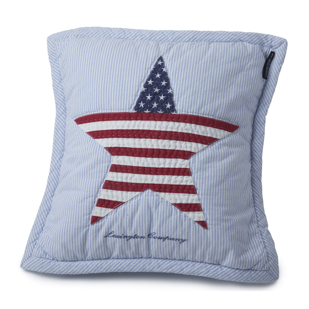Baby Quilted Cushion Cover 40x40cm, Blue