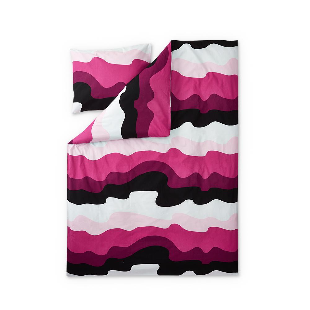 Aalto Bedding 150x210cm, Pink/ Fuchsia