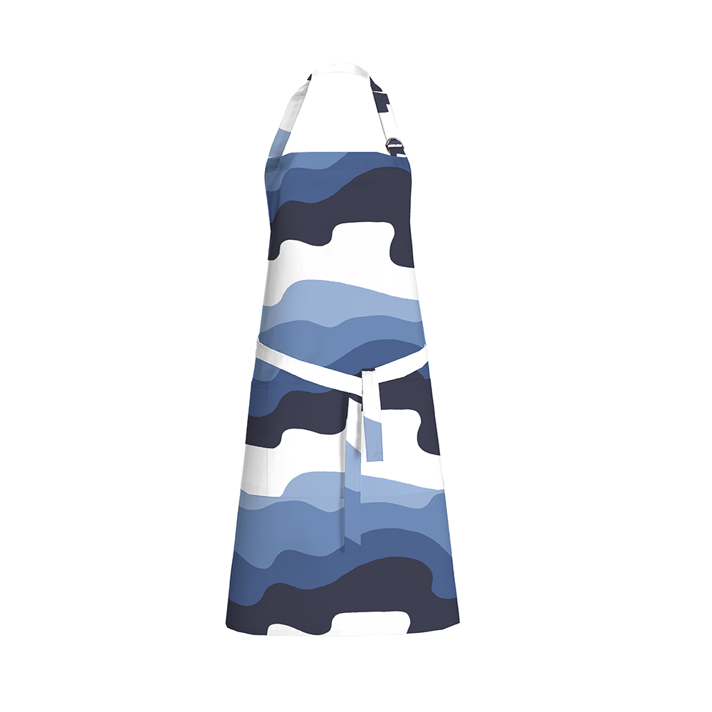 Aalto Apron 70x85cm, Blue/ White