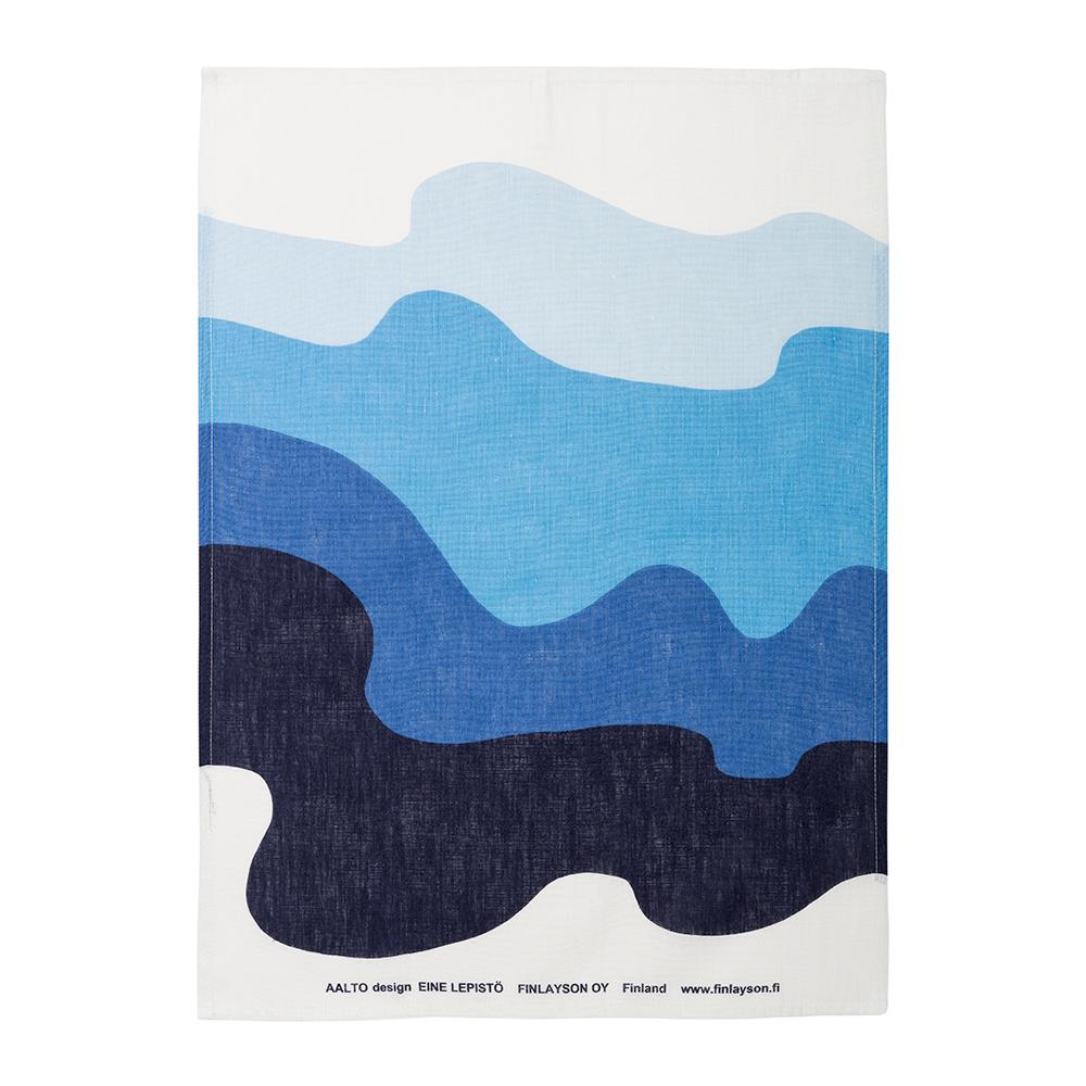 Aalto Kitchen Towel 50x70cm Set of 2, Blue/ White
