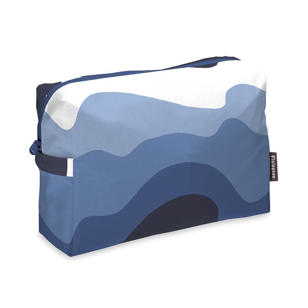 Aalto Toilet Bag 20x28cm, Blue/ White
