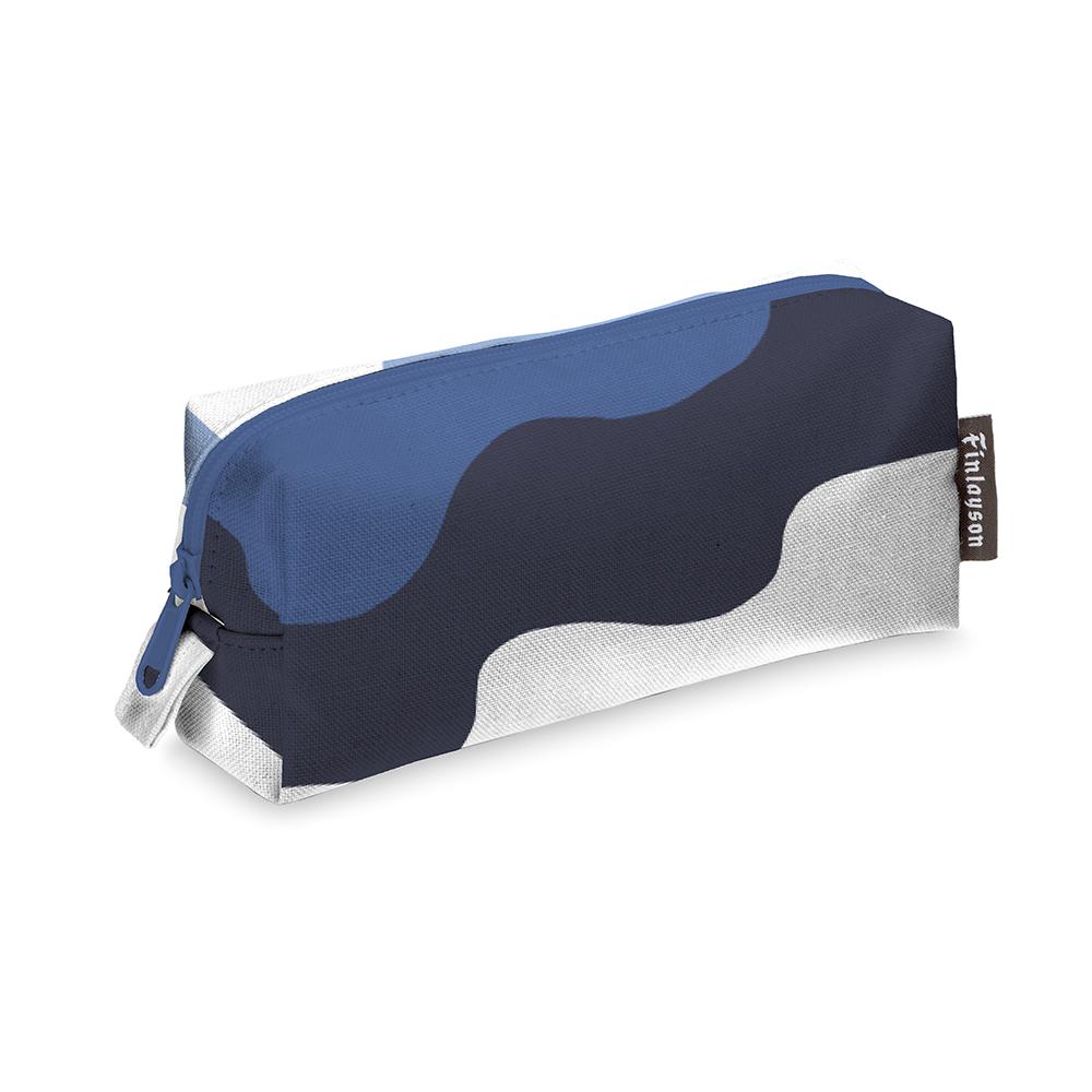 Aalto Makeup Bag 11x18cm, Blue/ White