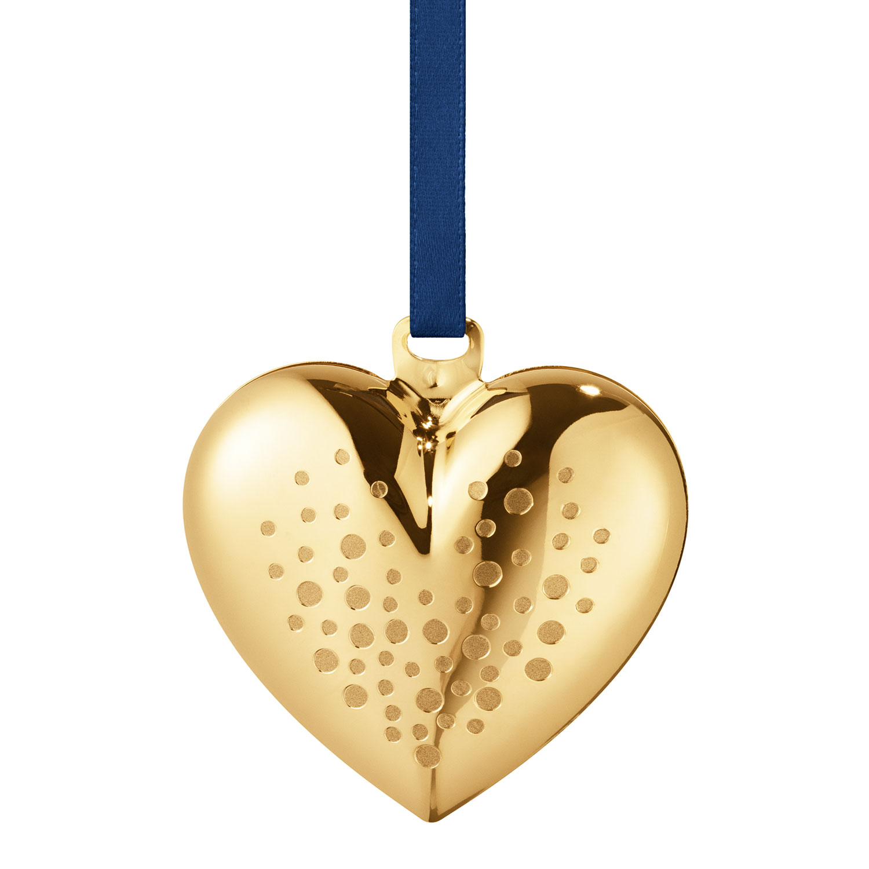 2017 Christmas Heart, Gold