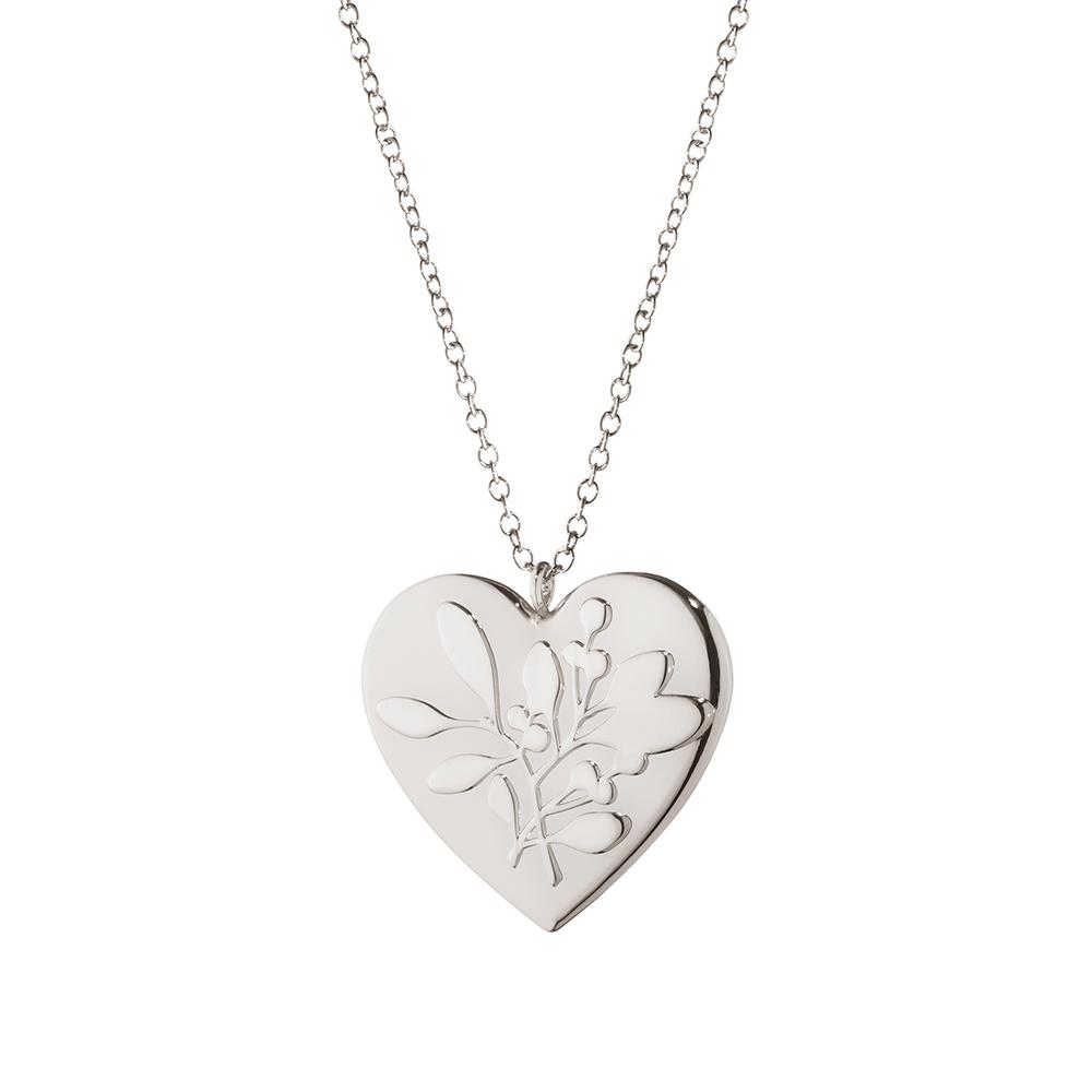 2015 Ornament Heart, Palladium