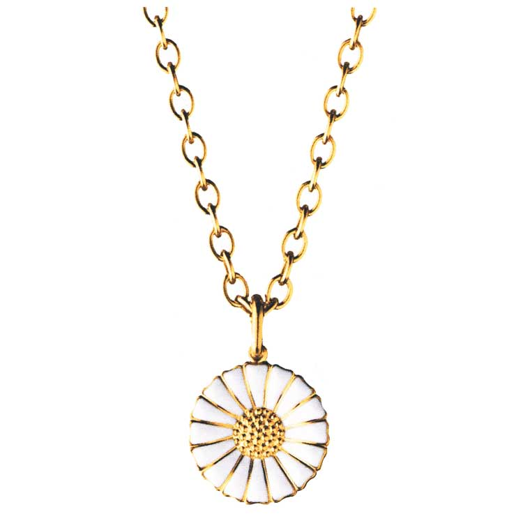 Daisy Gold Necklace White Georg Jensen Georg Jensen