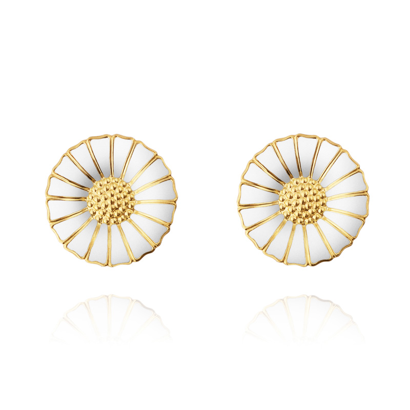 lrg daisy hypoallergenic studs sensitive serenity studex earrings steel plated gold