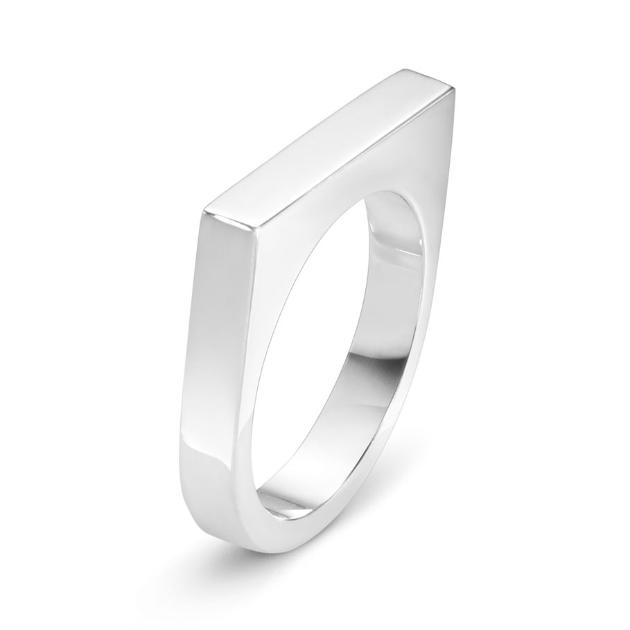 Aria Slim Ring, Sterling Silver