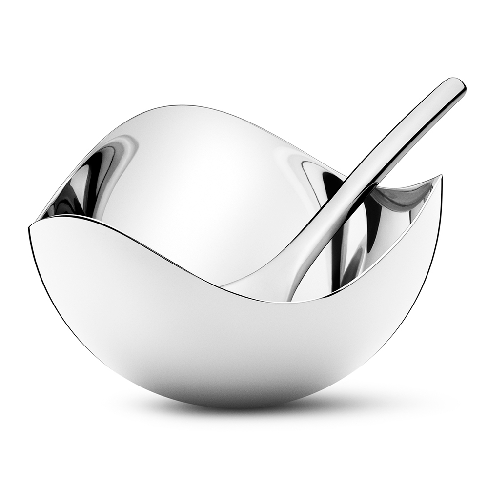 Georg Jensen S London Boutique By Studio David Thulstrup: Bloom Salt Cellar With Spoon