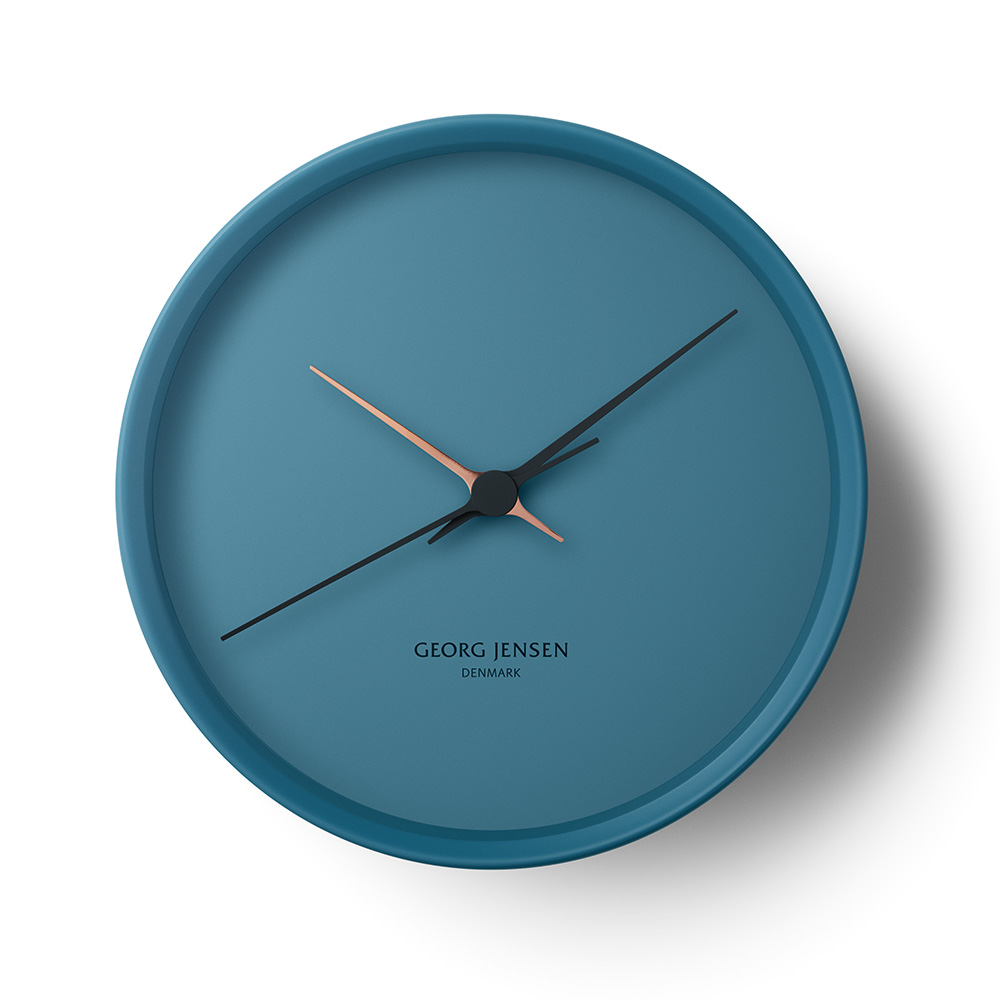 Hk Wall Clock Blue Henning Koppel Georg Jensen