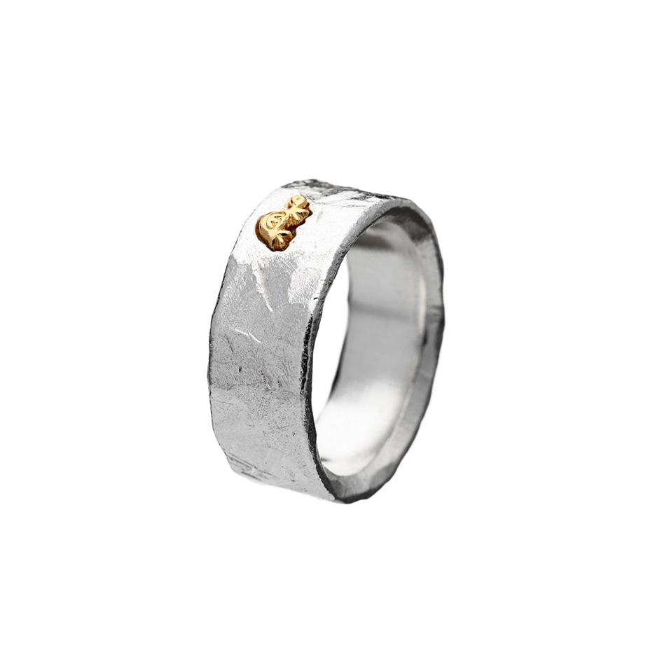 Sigill Ring Medium 17, Silver/ Gold