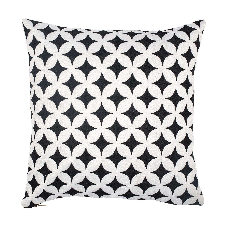 Marrakech Manic Cushion Cover 50x50cm Black/ White
