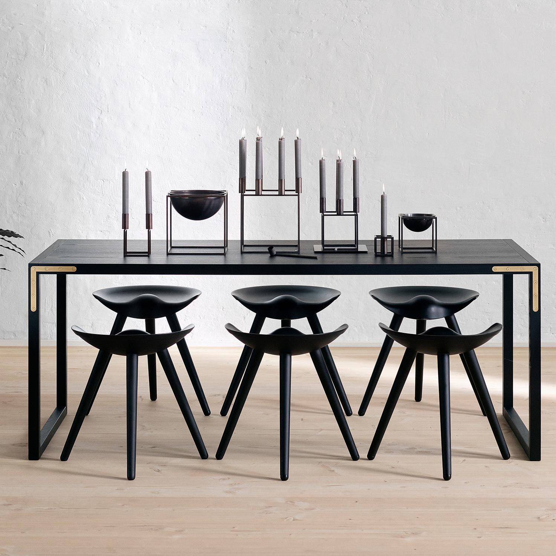 kubus bowl large burnished copper mogens lassen by lassen. Black Bedroom Furniture Sets. Home Design Ideas