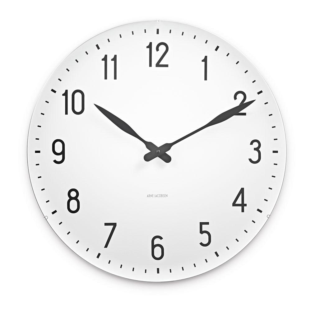 AJ Station Wall Clock, White