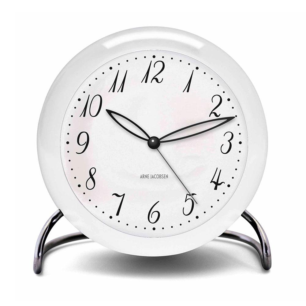 AJ Reloj de mesa con alarma, Blanco LK