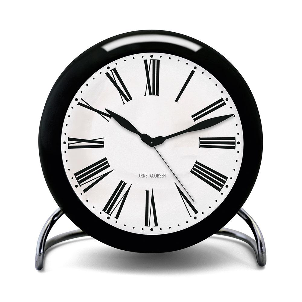 AJ Reloj de mesa con alarma, Blanco/negro